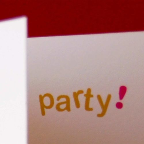 Image of Birthday party card detail