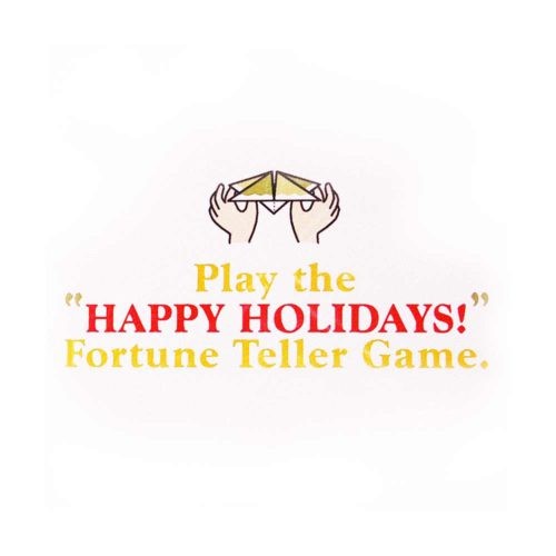 Image of Fortune Teller Holiday Card illustration