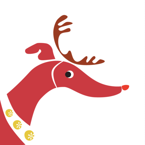 Image of Holiday Card Reindeer detail