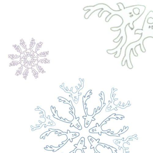 Image of reindeer snowflakes