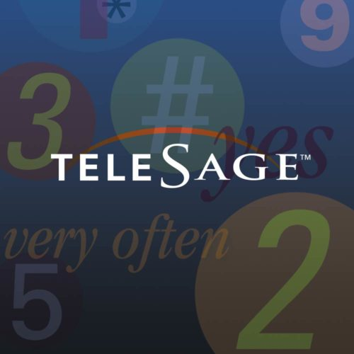Image of TeleSage logo and collage
